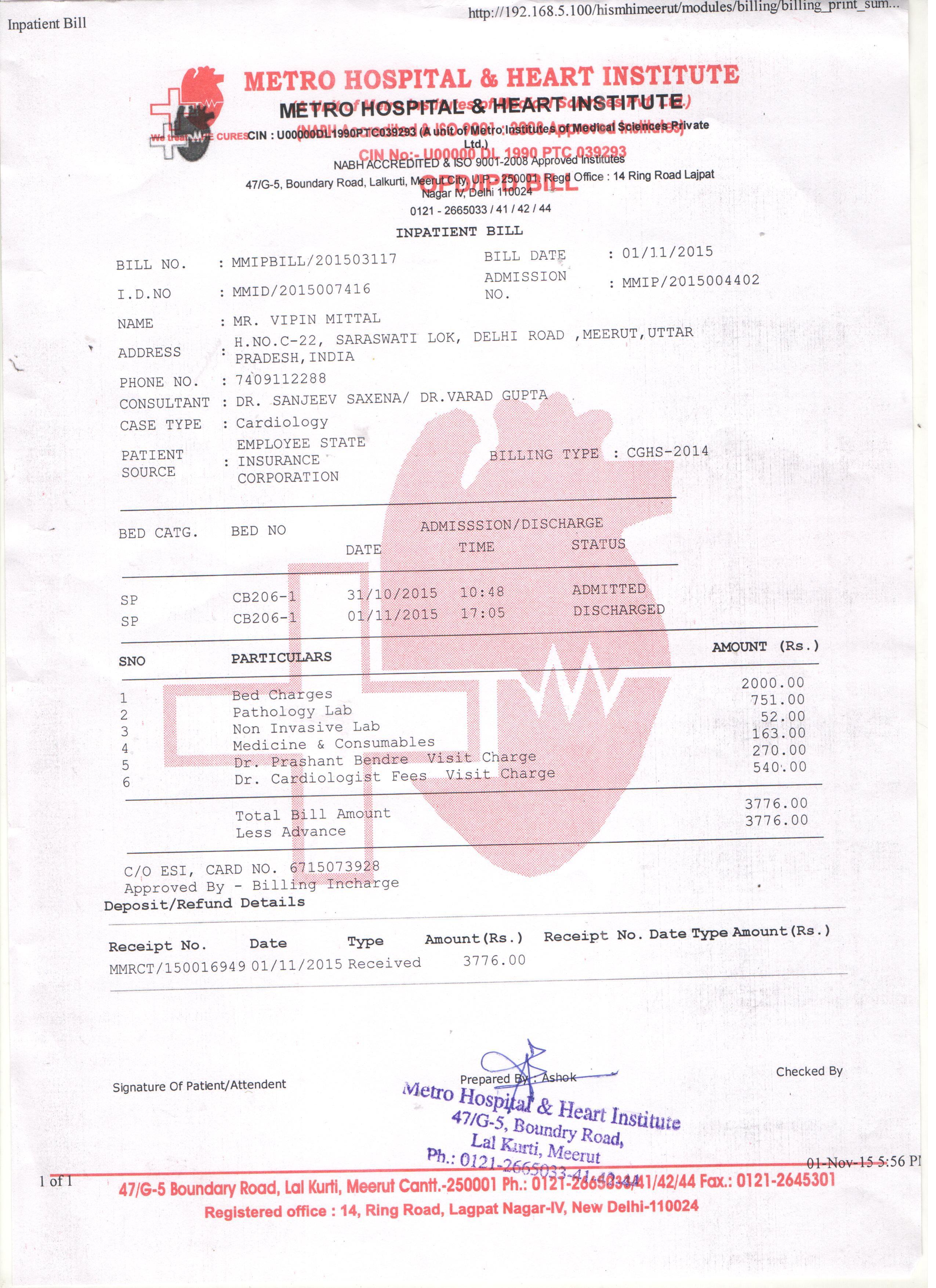 Metro Hospital Meerut Heart Problum