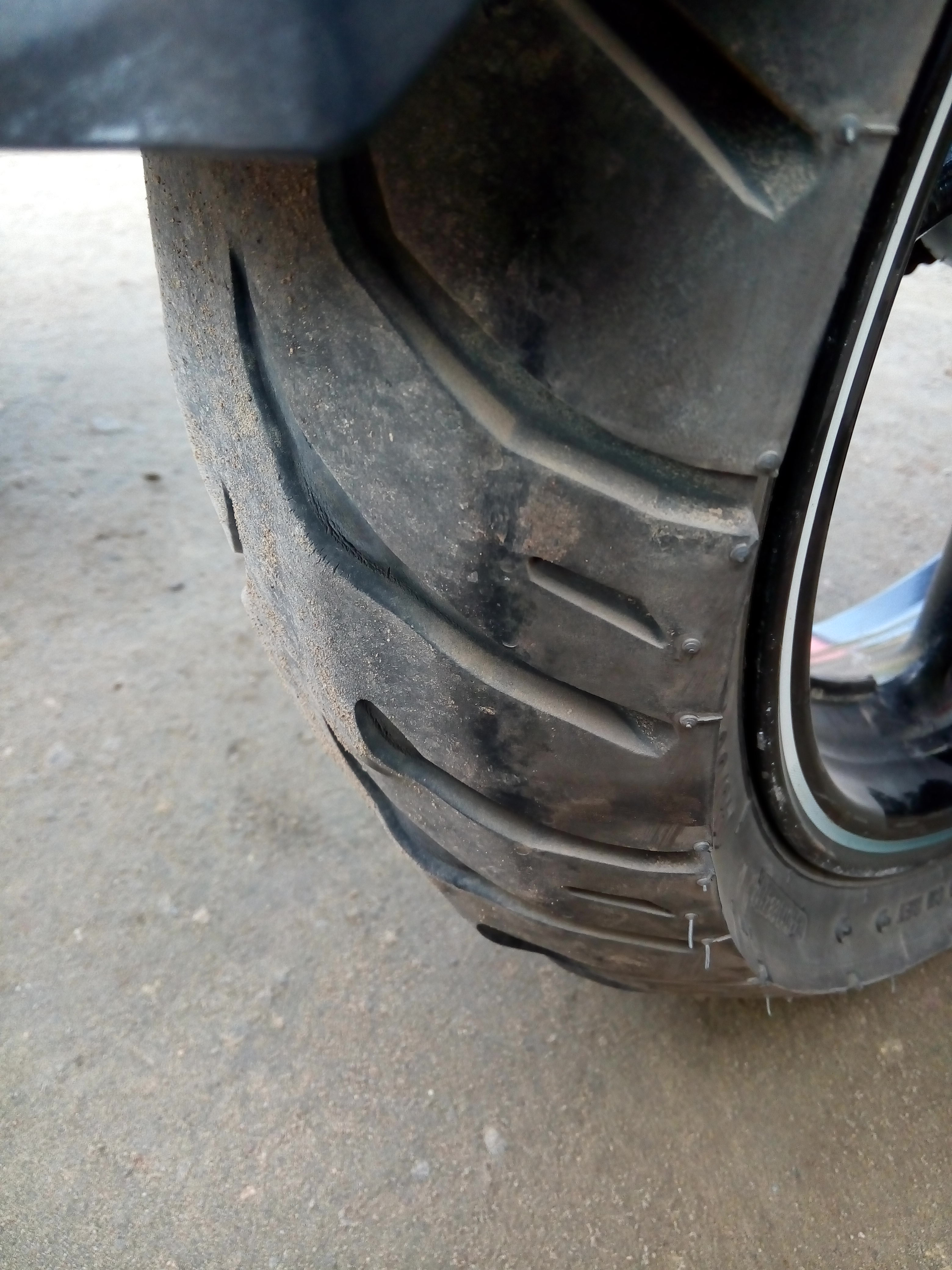 MRF Tyres — frequent puncture of the tyre tube.