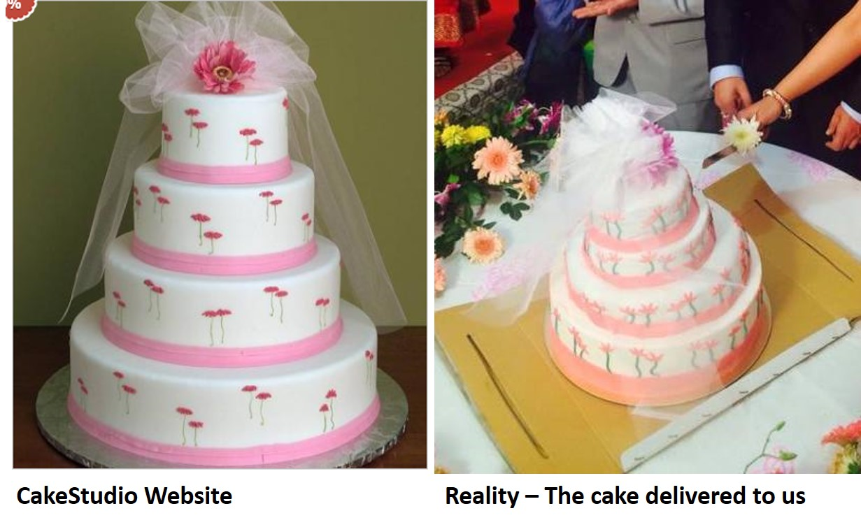 cake studio fraud wedding cake delivery company