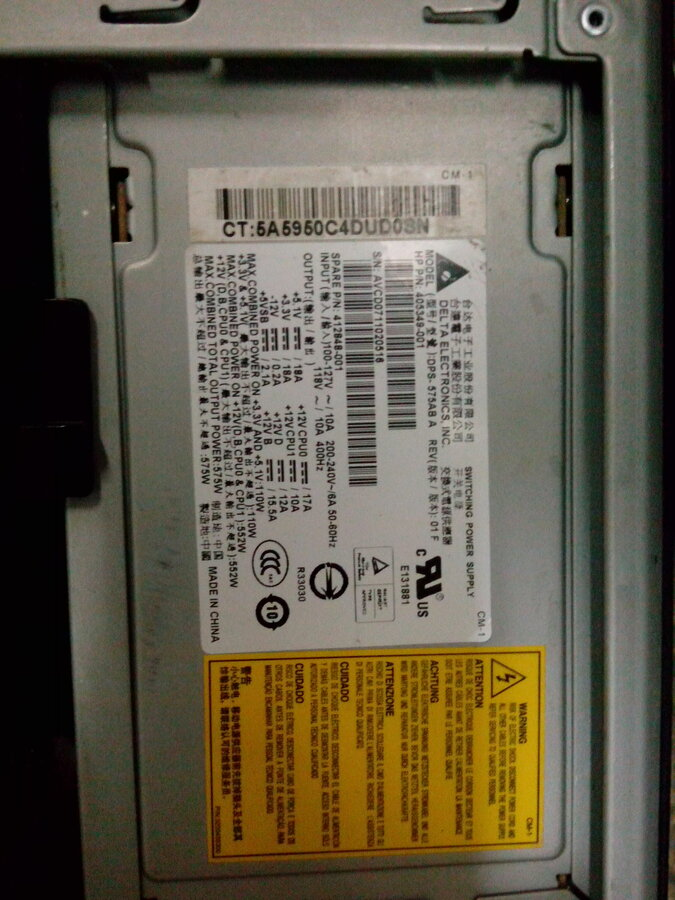 HP India — SMPS Model: DPS-575AB A is out of order and not finding ...