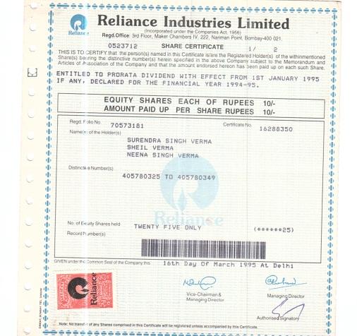 Company share certificates insrenterprises recent posts yadclub Images