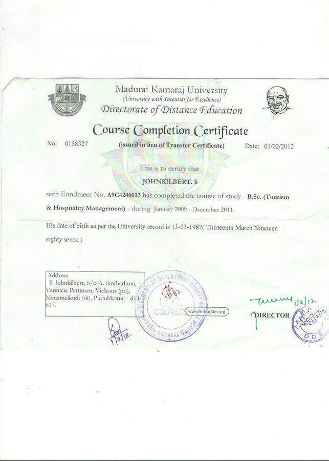 Madurai Kamaraj University I Need Provisional Certificate