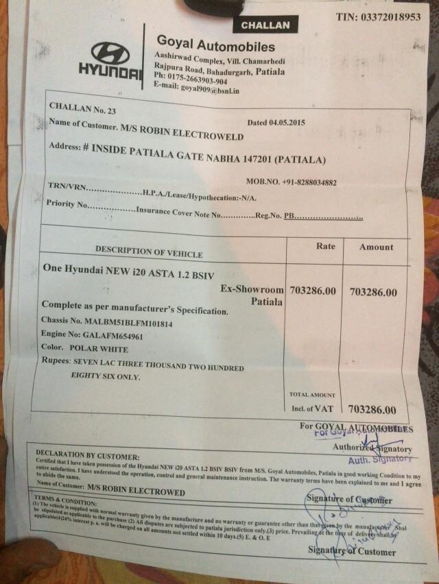 Hyundai Motor India — VERY BIG Complaint against Goyal DPG