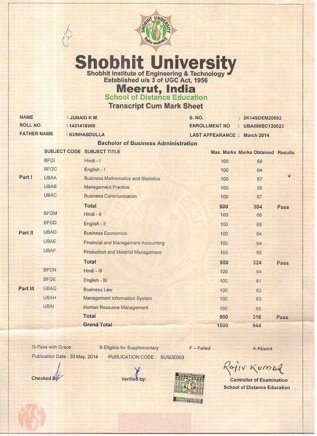 Shobhit university fake marksheets with the name of shobhit shobhit university fake marksheets with the name of shobhit university yelopaper Choice Image