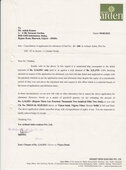 Cancellation of Application for Allotment of Flat No. E-207 in Arihant Arden Plot no. GH-07A Sector-1,Greater Noida