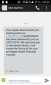 Fake delivery message