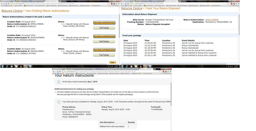 Amazon India Return And Get The Refund