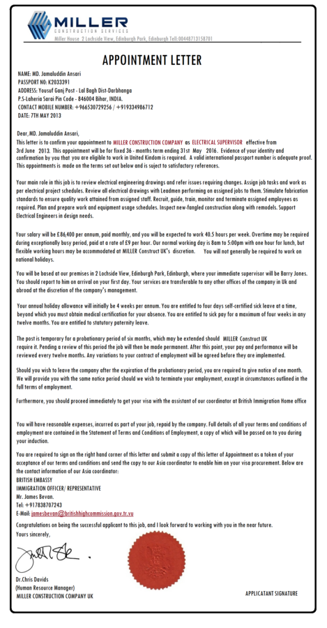 VFS Global & British Deputy High Commission Mumbai — Non receipt o