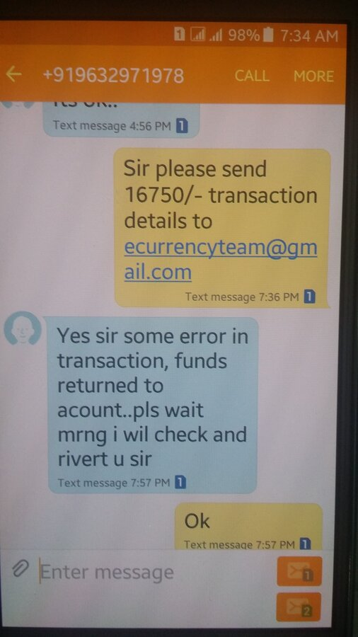 Resolved] Siddagangaa Services — Cheating people by sending fake