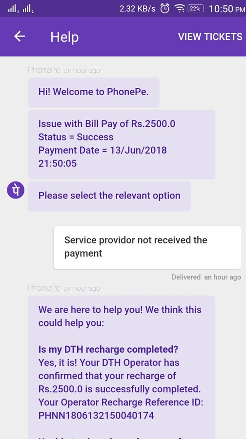 Videocon D2H — Wrong account get credited for recharge