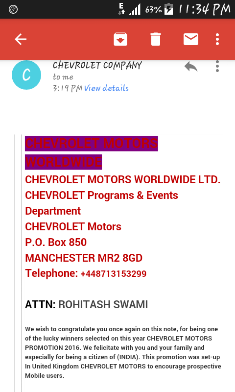 Chevrolet Uk I Am Win A Price