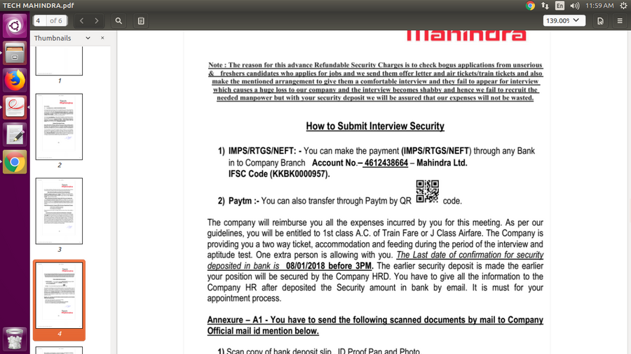 tech mahindra offer letter process