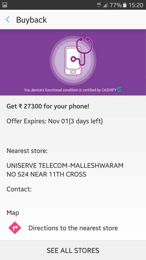 Resolved] Samsung India — Samsung s upgrade offer via the My