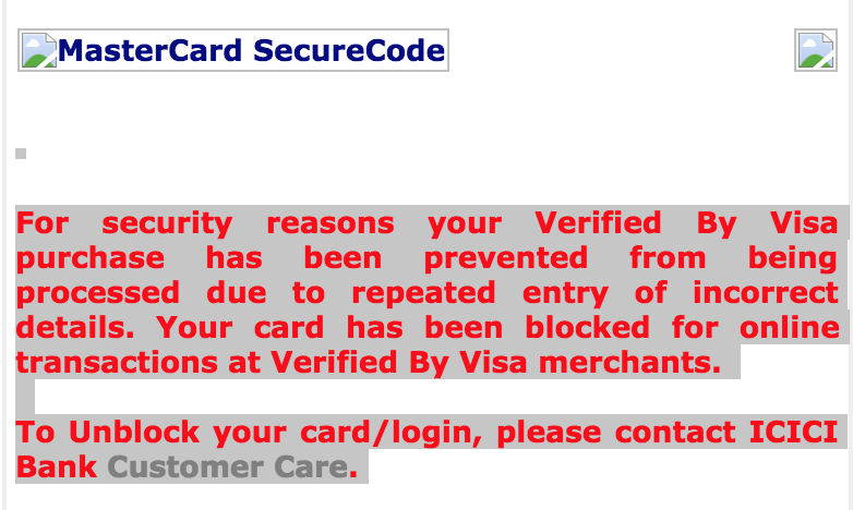 Resolved] ICICI Bank — Card blocked for no reason