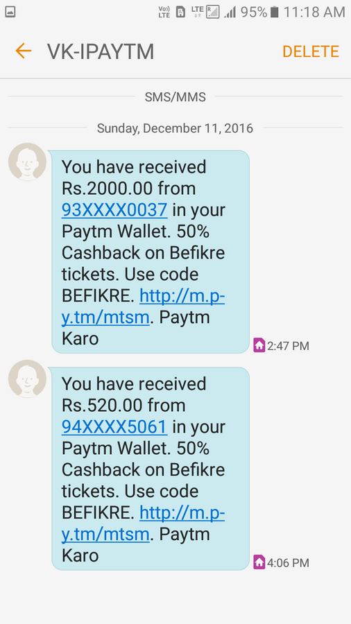 Paytm Mobile Solutions — Payment not refunded back to my account
