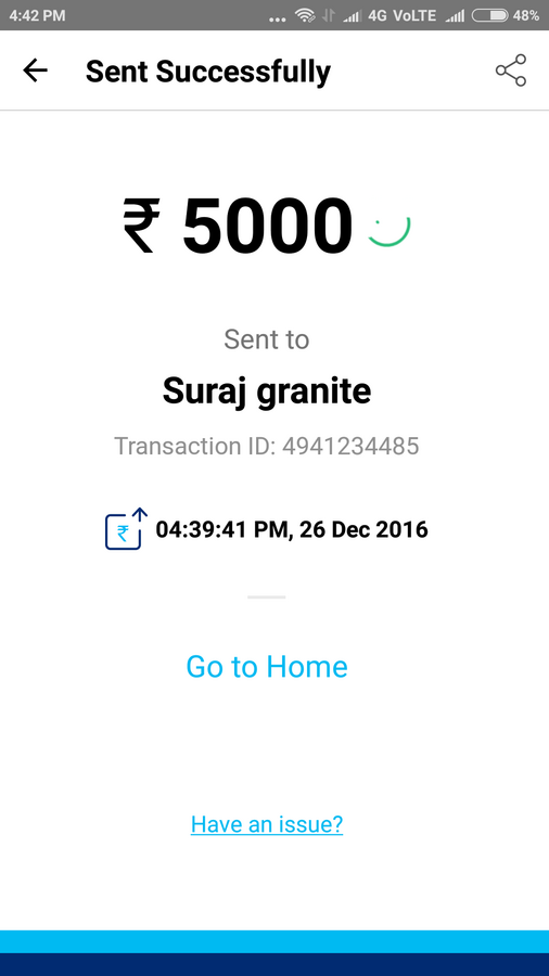Resolved] Paytm Mobile Solutions — My 5000rs bank transaction failed