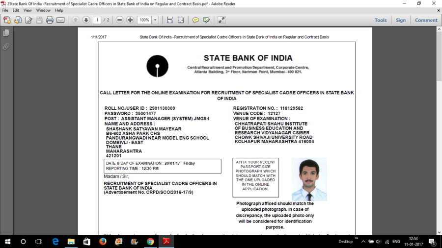 Institute Of Banking Personnel Selection [Ibps] — Sbi - sco