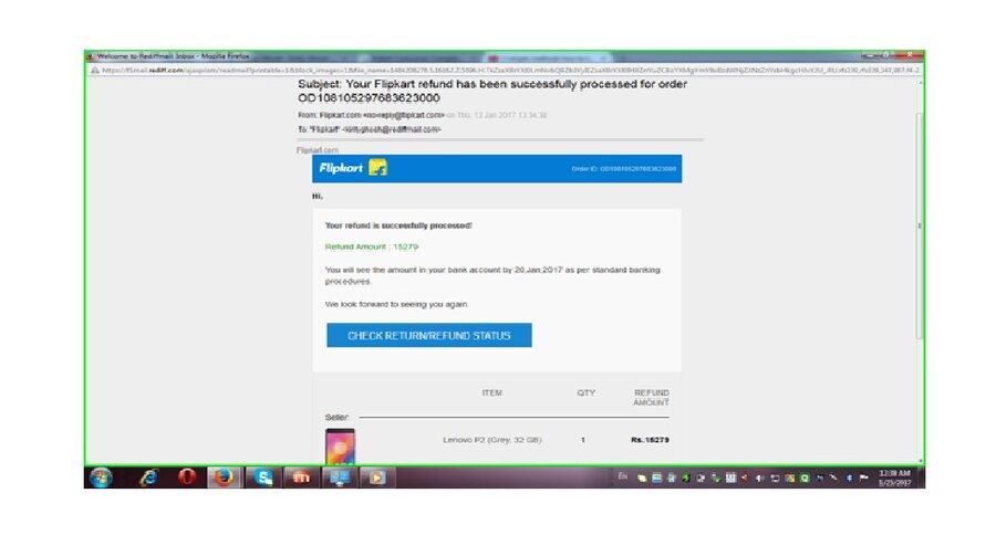Flipkart — Lenovo P2 mobile