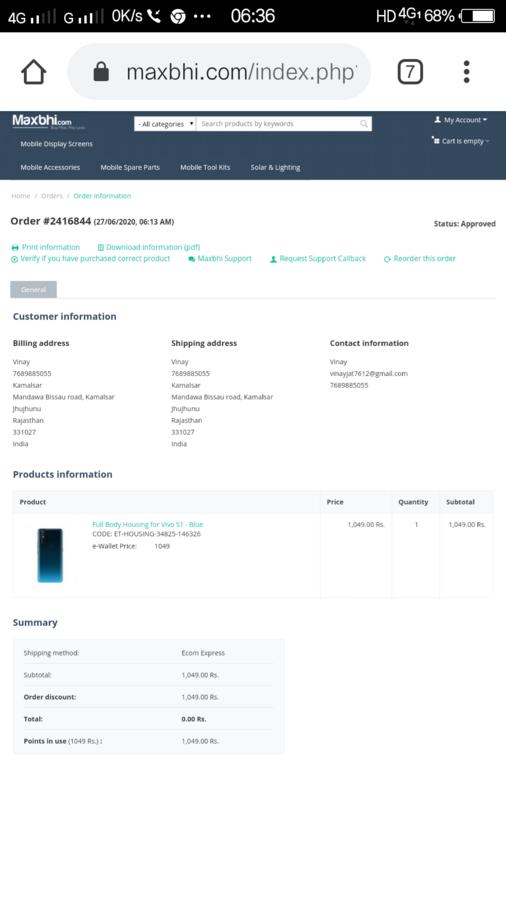 [Resolved] Maxbhi / Elcotek Telecom — I want to cancel my