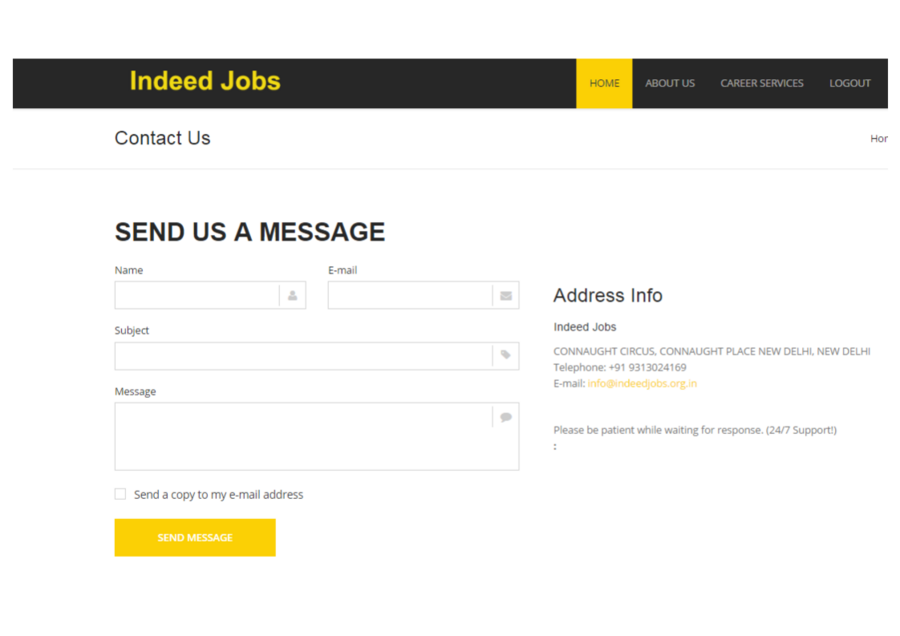 Indeedjobs org in — Ask for transferring amount Rs  20000