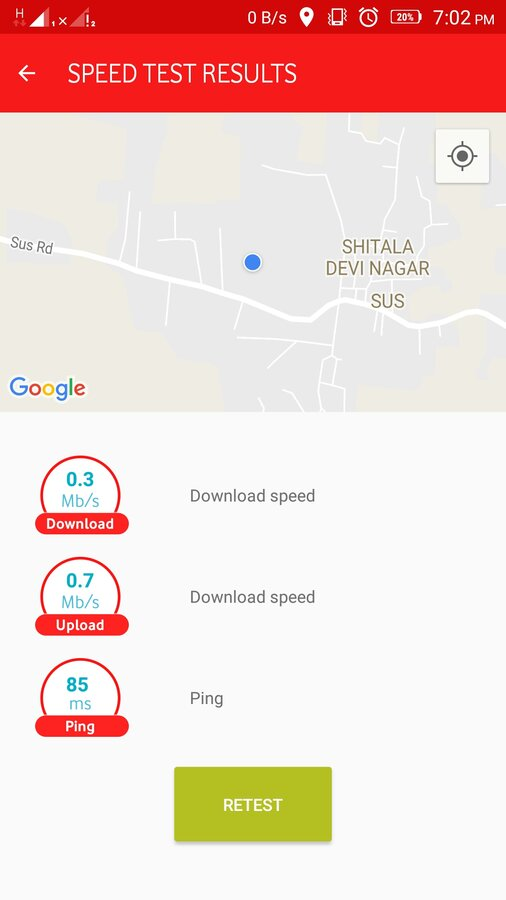 Vodafone India — Network issue in SUS Pune 411021