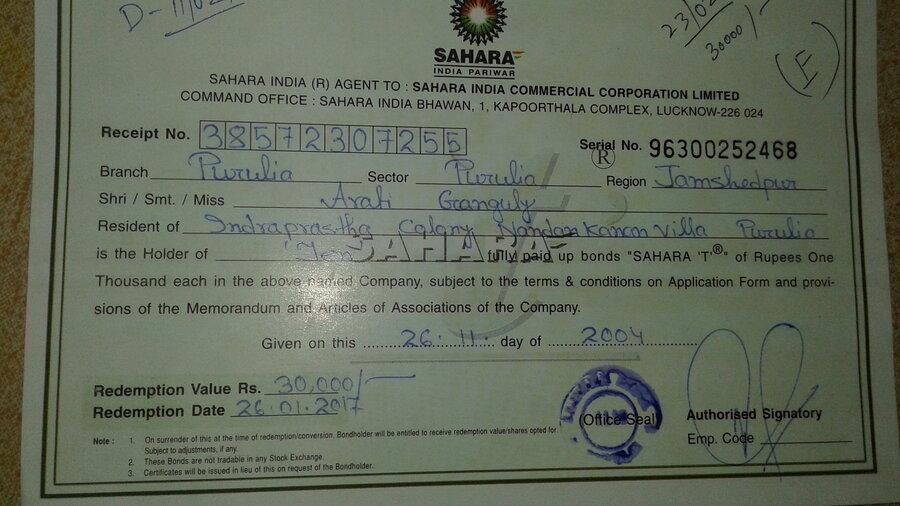 Sahara India Pariwar Non Payment Of Fixed Deposit On Maturity