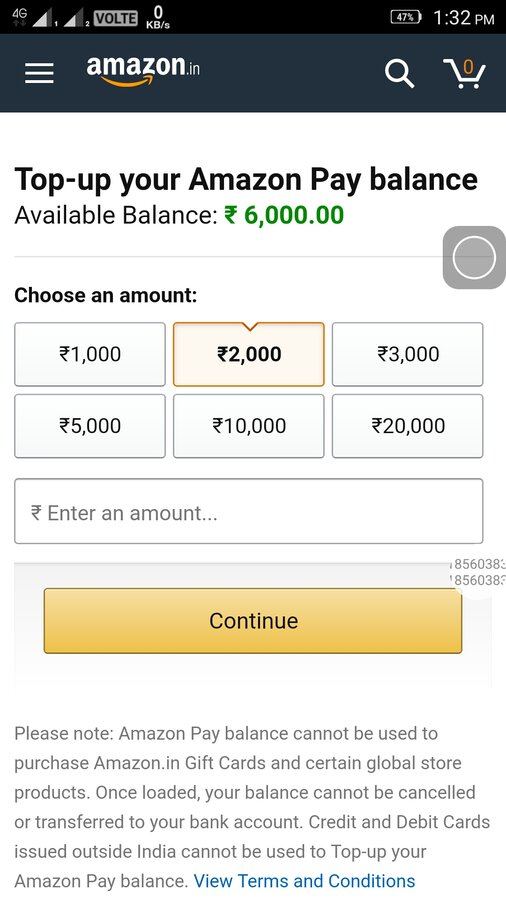 Amazon India — When l would like to pay the amount,it