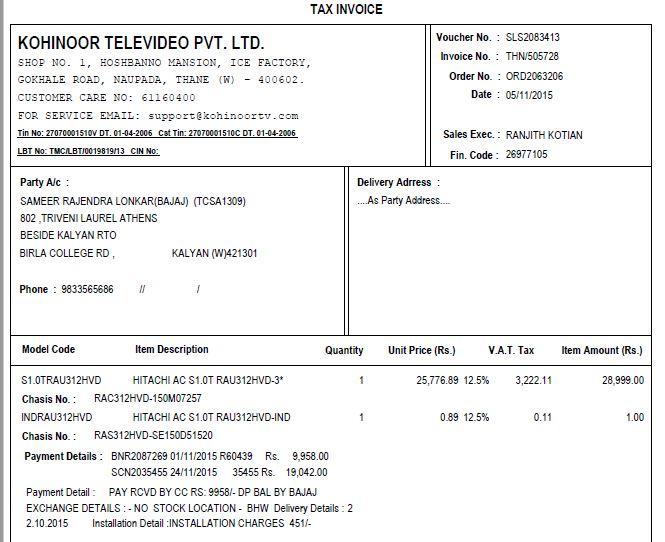 Resolved] Hitachi Home & Life Solutions India [Hhli] — 1 Ton AC