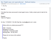 Air Pegasus Flight Cancelled - Not Refunding Ticket cost