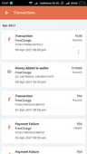 FreeCharge wallet I can't transfer to bank