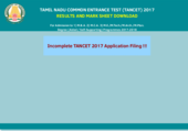 Unable to see TANCET 2017 results