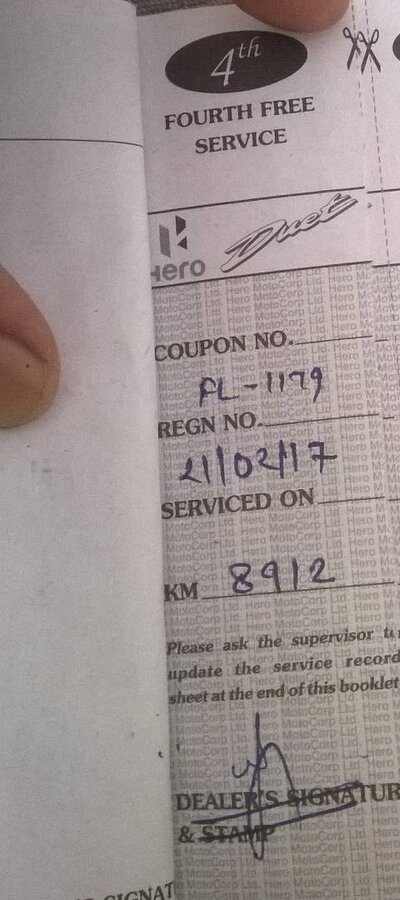 Hero Motocorp — Complaint about average and machine
