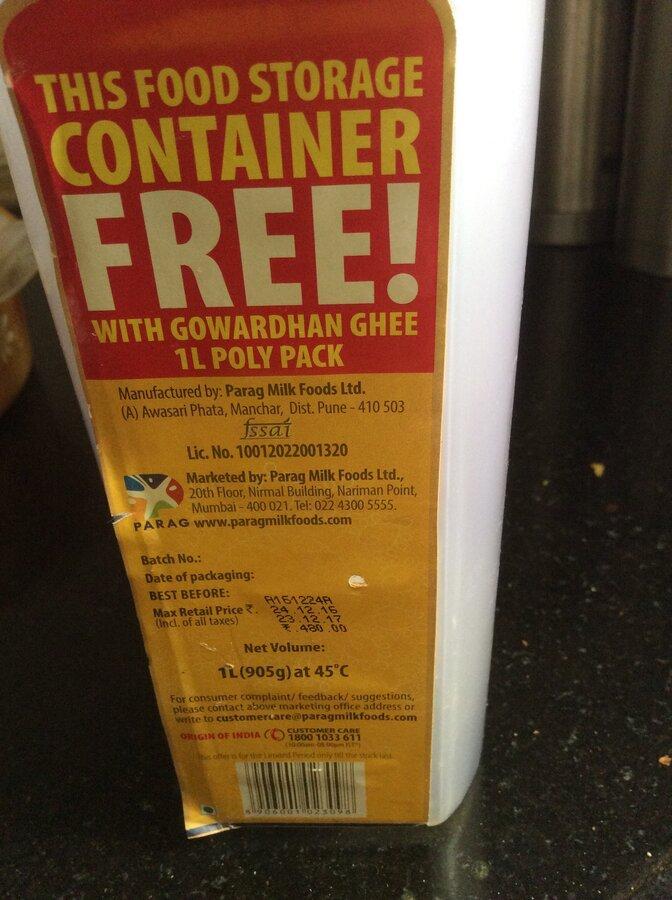 Parag Milk Foods Ltd — Gowardhan ghee