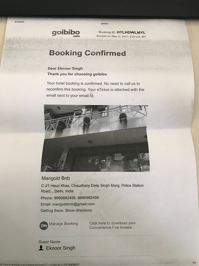 Resolved] Ibibo Group / Goibibo — Booked a hotel but that hotel was