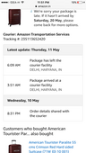 Delivery delayed and no information provided