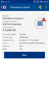 Payzapp transaction failed of 5000/- but money not refunded from 17 March 2017