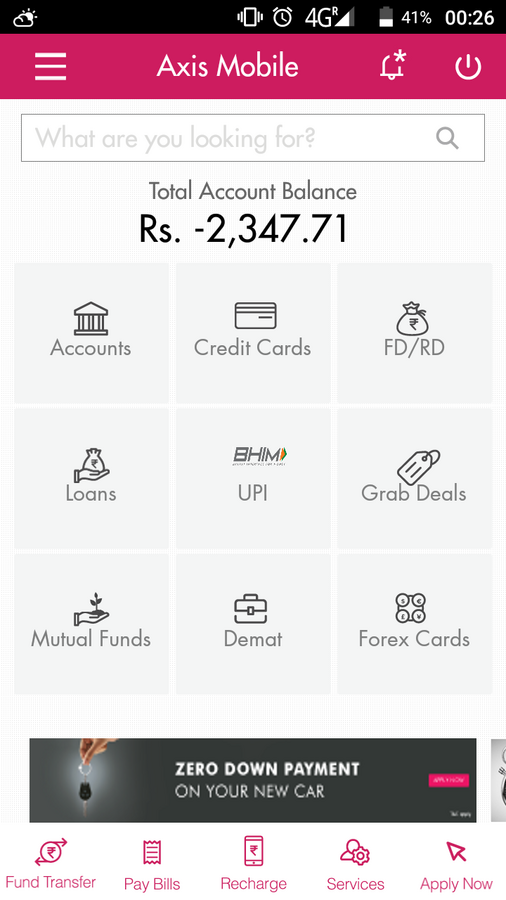 Resolved] Axis Bank — Negative balance in savings account