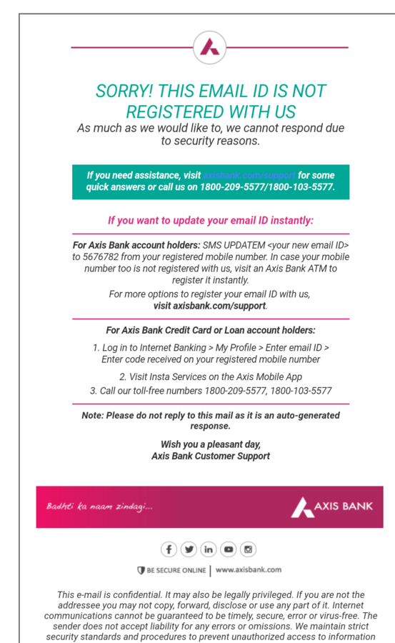 axis bank credit card customer care number toll free