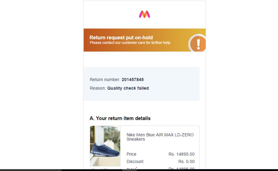 official photos 10eb3 e81c4 Myntra.com — I received duplicate/wrong product and request ...