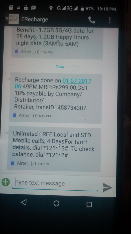Resolved] Airtel — Wrong recharge done by mistake