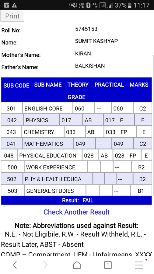 Central Board Of Secondary Education [Cbse] — difference in