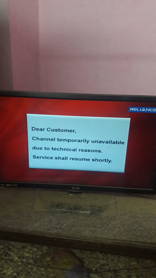 Reliance Bigtv — sun tv group channels are not coming