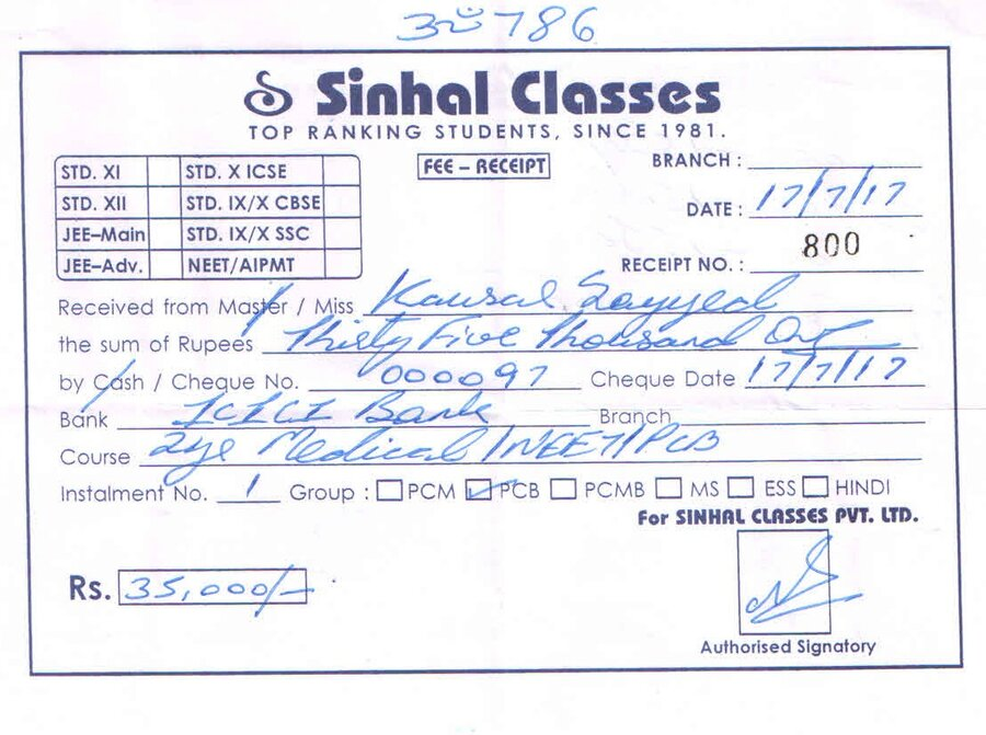 sinhal classes — poor coaching and fees not refunding