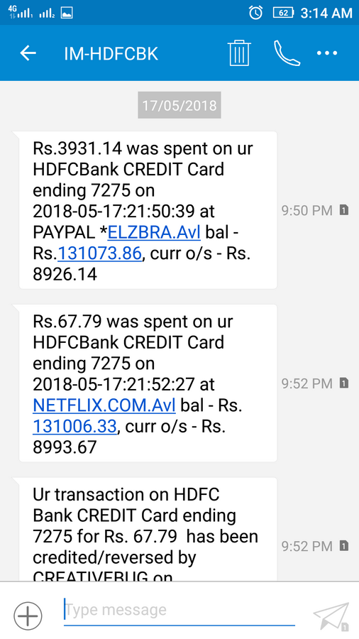 Resolved HDFC Bank — hdfc credit card dispute transaction