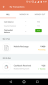 money deducted recharge not done..refund stuck