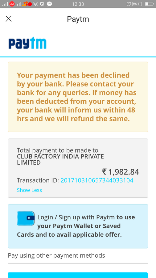 State Bank Of India [Sbi] — amount debited but transaction failed