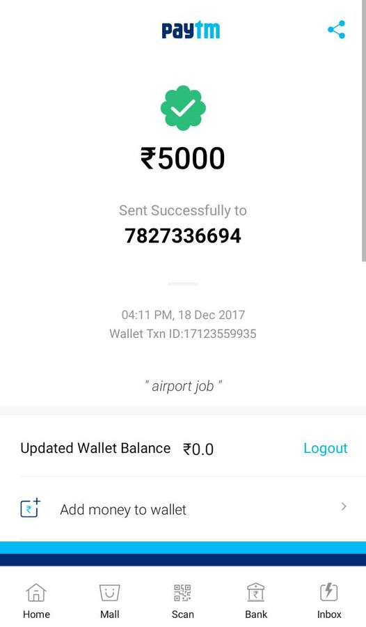 Fake Paytm Website
