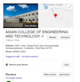 asian college of engineering, coimbatore - urgent action needed please