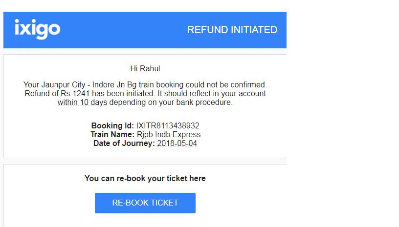 Resolved] Ixigo — ixigo refund