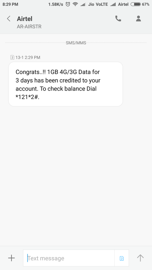 Airtel — main balance deducted even though I have internet pack
